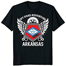 Arkansas State Flag Off Road T-Shirt 4x4 Mudding Grunge