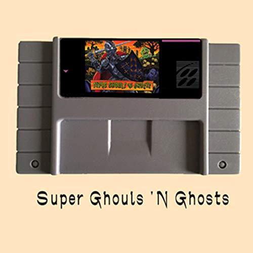 ASMGroup Super Ghouls 'N Ghosts USA Version 16 Bit Big Gray Game Card NTSC