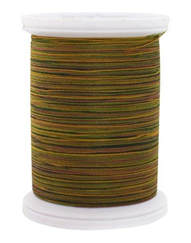 YLI 24450-08V 3-Ply 40wt T-40 Cotton Quilting Variegated Thread, 500 yd, Green/Tan (Quilting Yli Thread)