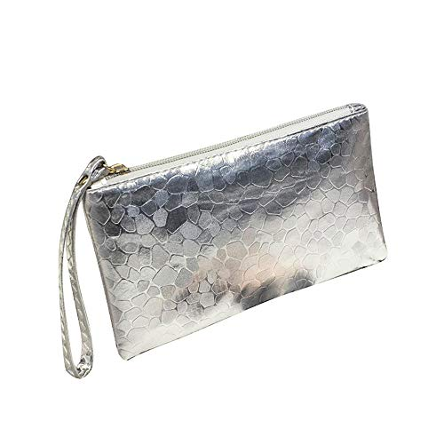 HAMKAW Sequin Women Evening Clutch Bag for Wedding and Party, Mermaid Ladies Luxury Satin Sparkly Cocktail Purse Handbag Fashion Prom Bridal Clutch Purse, Glitter Bag for Women
