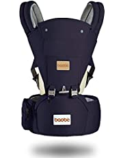 Arkmiido Baby Carrier Ergonomic with Hip Seat, Child Carrier Backpack 3 in1 for Toddler,Baby Sling Wrap Newborn,Breathable and Soft Baby Warp for All Season (Navy)