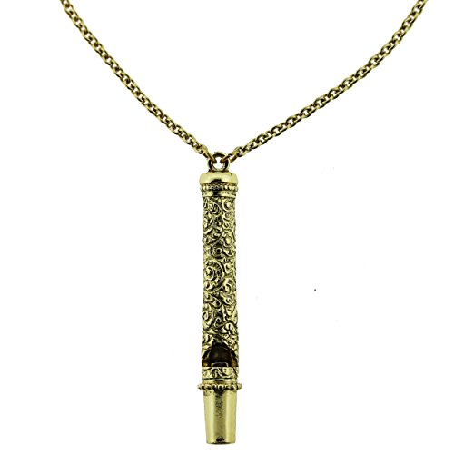 whistle necklace gold - 7