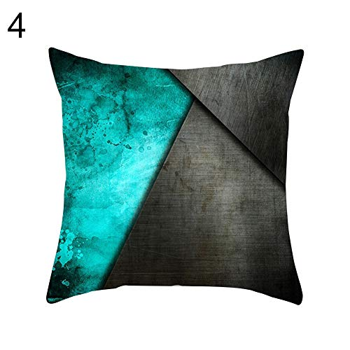 wsloftyGYd-Color Block Flower Map Pillow Cover Cushion Case