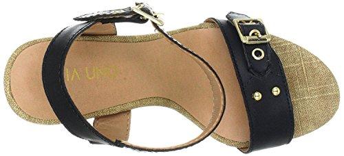 Via Uno 21182605 Sandaletten Leder black Black