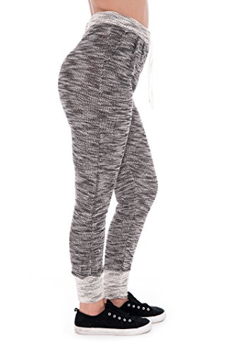 Women's Elastic Drawstring Waist Jogger Lounge Pajama Lightweight Comfy - Lounge Elite