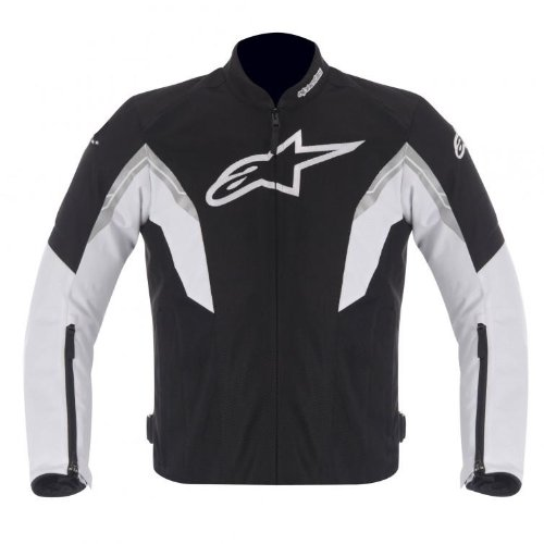 Alpinestars Viper Air Men's Textile On-Road Motorcycle Jackets - Black/White / Large (Textile Air Jacket)