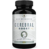 Brain Support Supplement, Cerebral Boost: Aids with Memory, Focus & Clarity. Contains DMAE, Rhodiola Rosea, Gingko Biloba, phosphatidylserine & More.