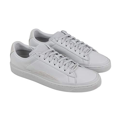 PUMA Basket Han Mens White Leather Low Top Lace Up Sneakers Shoes 11.5