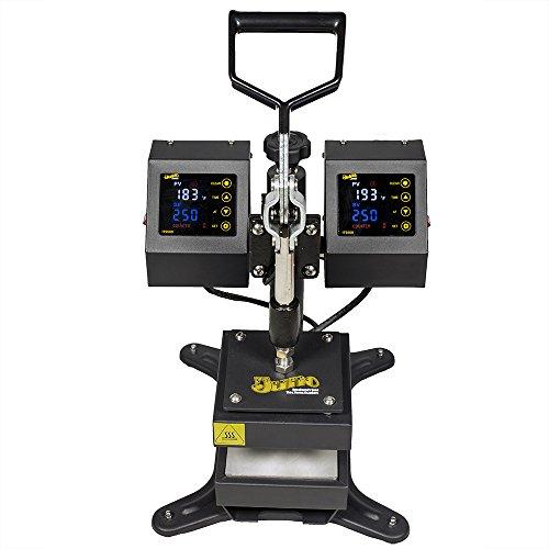 5'' x 5'' Juno Rosin Heat Press Machine, Dual Platen Heating by Greenstar