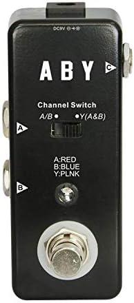 ギターエフェクター ギターエフェクトペダルミニA/BボックスペダルABYチャンネルスイッチ ディストーション (Color : Black, Size : Free size)