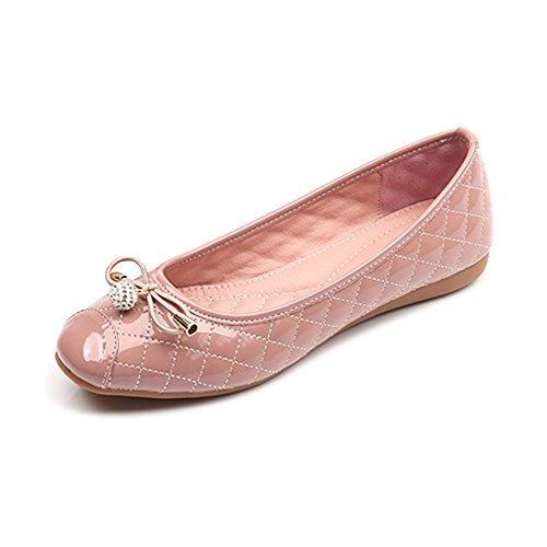 OCHENTA Femme Ballerines Plats Confortable Marche Chaussures Printemps Eté Rose