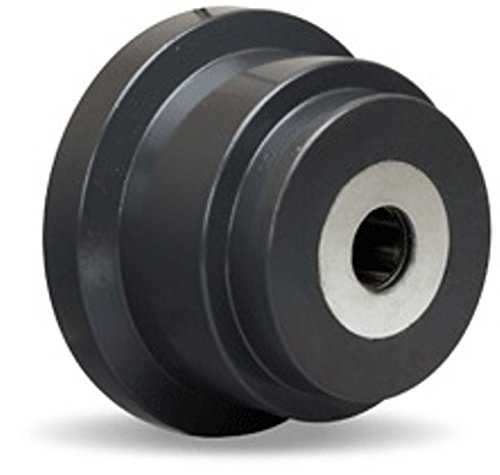 4-1/2'' Ductile Iron Flanged Wheel, 3000 lbs Capacity, Roller Bearings