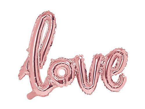 73 x 59 cm FB15M-019R Colore PartyDeco- Palloncino Foil Mylar Sagomato Scritta Love Oro Rosa
