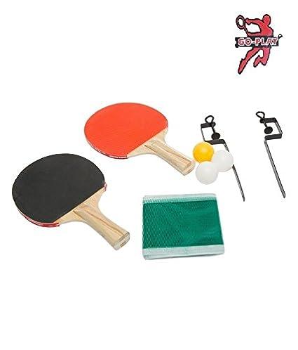 Buy Go Play Table Tennis Set 2 Tt Rackets 3 Tt Balls 1 Piece
