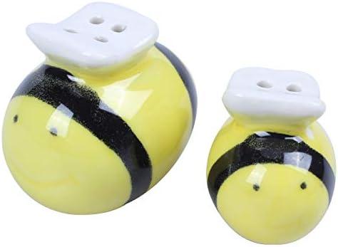 Xigeapg セラミックビーパターンの塩とペッパーシェイカー ウェディングパーティー バッグ フィラー ギフトセット