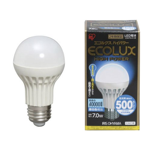 アイリスオーヤマ  LED電球 昼白色相当 LDA7N-H-V8