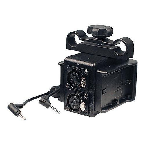 Indipro Dual Power Grid & XLR Audio Box with Dual LP-E6 Plates for Blackmagic Pocket Cinema Cameras by Indipro Tools