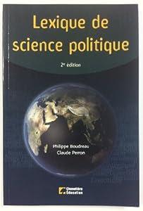 Paperback Lexique de sciences politiques [French] Book