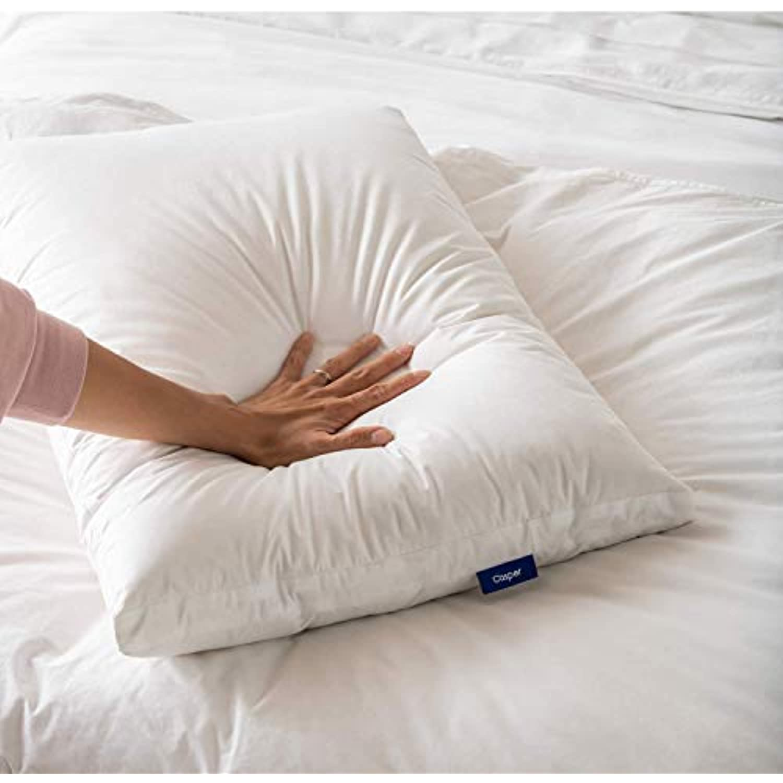 Casper Sleep Down Pillow for Sleeping, Standard, White