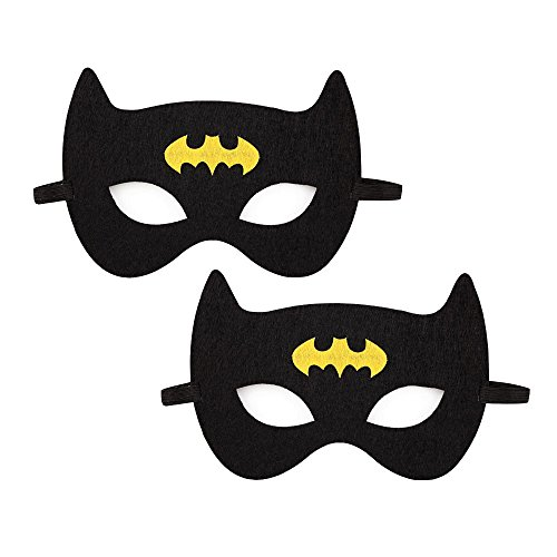 Costume Mask for Batman Fans Superhero Graphic Short Sleeve Cotton Tee by Sun Baby-2Pack(One size, (Make A Batman Costume)