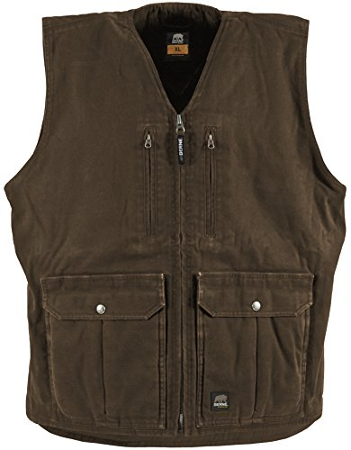 Berne Mens Echo One Zero Concealed Carry Vest (Bark 6X) - Vest Bark