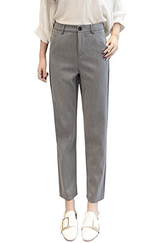 BucaDala Womens Loose Fit Suit Pants Stretchy Comfy Pencil Pants Straight Trousers from BucaDala