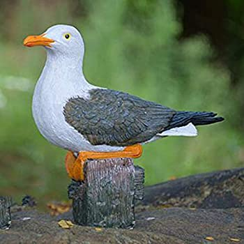 MagiDeal Creative Resin Craft Landscape Decor Seagull Statue Garden Lawn Ornament Animal Sculpture