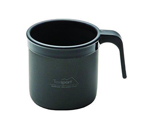 Texsport Black Ice Hard Anodized 14 Oz. Coffee Cup Mug with Stay Cool Rim - Texsport Black Ice