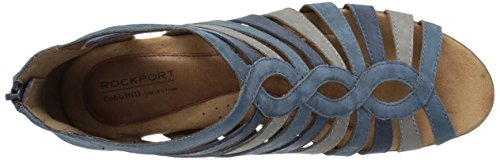 Cobb Hill Womens Abbott Gladiator Sandal Blue/Multi Nubuck U1JXt33cEV
