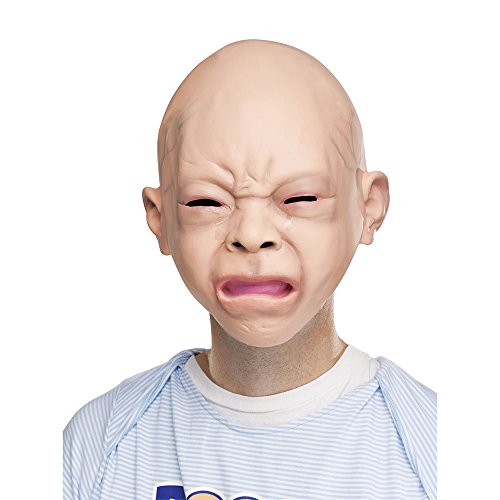 Scary Ass Halloween Costumes - Fun World Unisex-Adult's Crying Baby Mask,