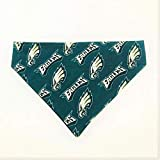 Philadelphia Eagles Pet No-Tie Dog Bandana Over the Collar Kerchief
