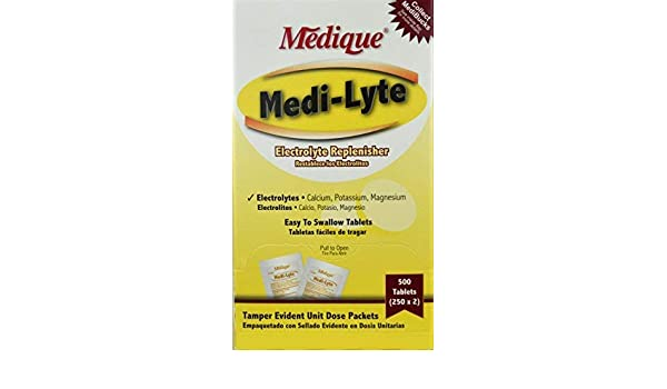 Amazon.com: Medi-Lyte Heat Stress Relief Tablets Sugar Free (500 / Box) 6 Boxes by Medique - MS71275: Health & Personal Care