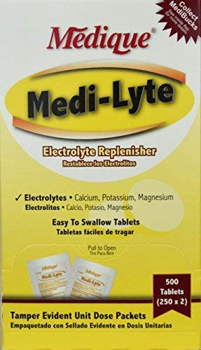 Medi-Lyte Heat Stress Relief Tablets Sugar Free (500 / Box) 6 Boxes
