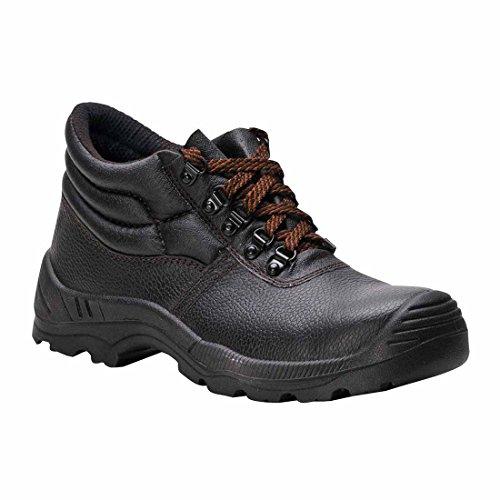 SUW–Steelite Displayschutzfolie Plus Workwear Knöchel Sicherheitsstiefel S1P HRO, EU 38 - UK 5, schwarz, 1 schwarz