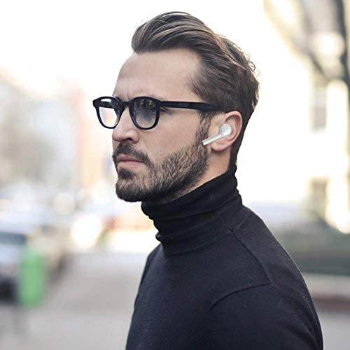 Mini Bluetooth Earbuds Wireless Earbuds Bluetooth Headphones 5.0 Auto Pairing True Stereo in-Ear Noise Canceling Earphones with Power Case Hands-Free Calls for Driving Exercise