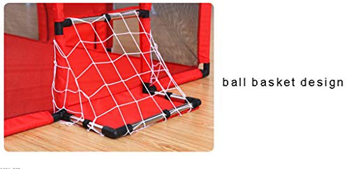 Baby Playpens Red Extra Large with Soft Spong Pad and 200 Ocean Balls, Baby Kids Play Pens 4 Panel Kids Activity Center Room for Infant, Indoor Outdoor New Pen (Size : 180x120cm) by Baby Playpens (Image #6)