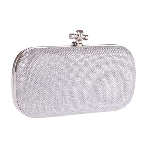 Versatile Clutch colore Evening Da Per Donne Totalizzatore Fashion Banquet Silver Borsa Classic Ahimitsu Champagne Donna wqUfWBXR