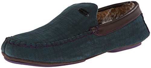 Ted Baker Men's Ruffas Flat,Green Suede,11 M US