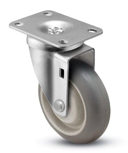 Shepherd-Institutional-Series-5-Diameter-Delrin-Bearing-Donut-MonoTech-Wheel-Swivel-Caster-3-34-Length-x-2-58-Width-Plate-300-lbs-Capacity