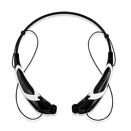 GEARONIC TM Duotone Sport Wireless Bluetooth Headset Headphone Stereo Handfree Universal Earphone -Blackwhite