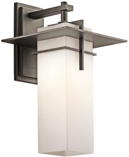 Kichler 49644OZ Caterham Outdoor Wall 1-Light, Olde Bronze