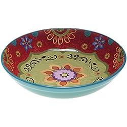"Certified International 22467 Tunisian Sunset Serving/Pasta Bowl, 13.25"" x 3"", Multicolor"