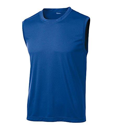 Opna Men's Sleeveless Muscle Tank Top T-Shirts, Royal, Large