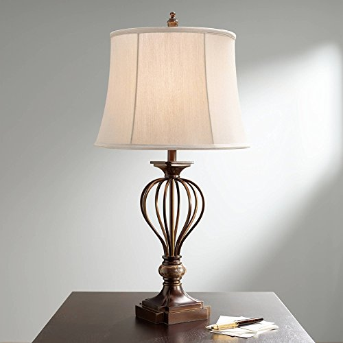 - Kathy Ireland Villa Roma Open Cage Marble Accent Table Lamp