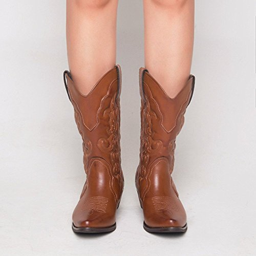 Boots Wide Calf Cowgirls Womens Tan Shesole Cowboy XgUqHSw