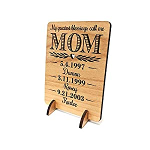 Unique Mom Greeting Card Personalized Mothers Day Gift Mom Card for Birthday Christmas Mother of The Bride Thank You…