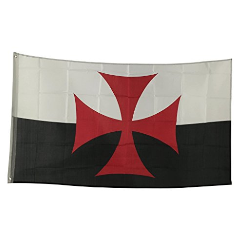 3' x 5' Polyester Flag with Brass Grommets (Knights Templar)