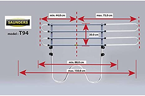 Universal Hundegitter Gepäckgitter SAUNDERS W-Tube T95 Hundeschutzgitter