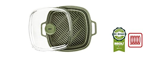 Risoli vaporgrill 26x 26Dr. Green® Extra Induction mit Deckel–MADE IN ITALY