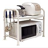 WXL Kitchen Microwave Racks 2 Layer Supplies Countertop Storage Rack Rice Cooker Shelf Double Oven Rack WXLV